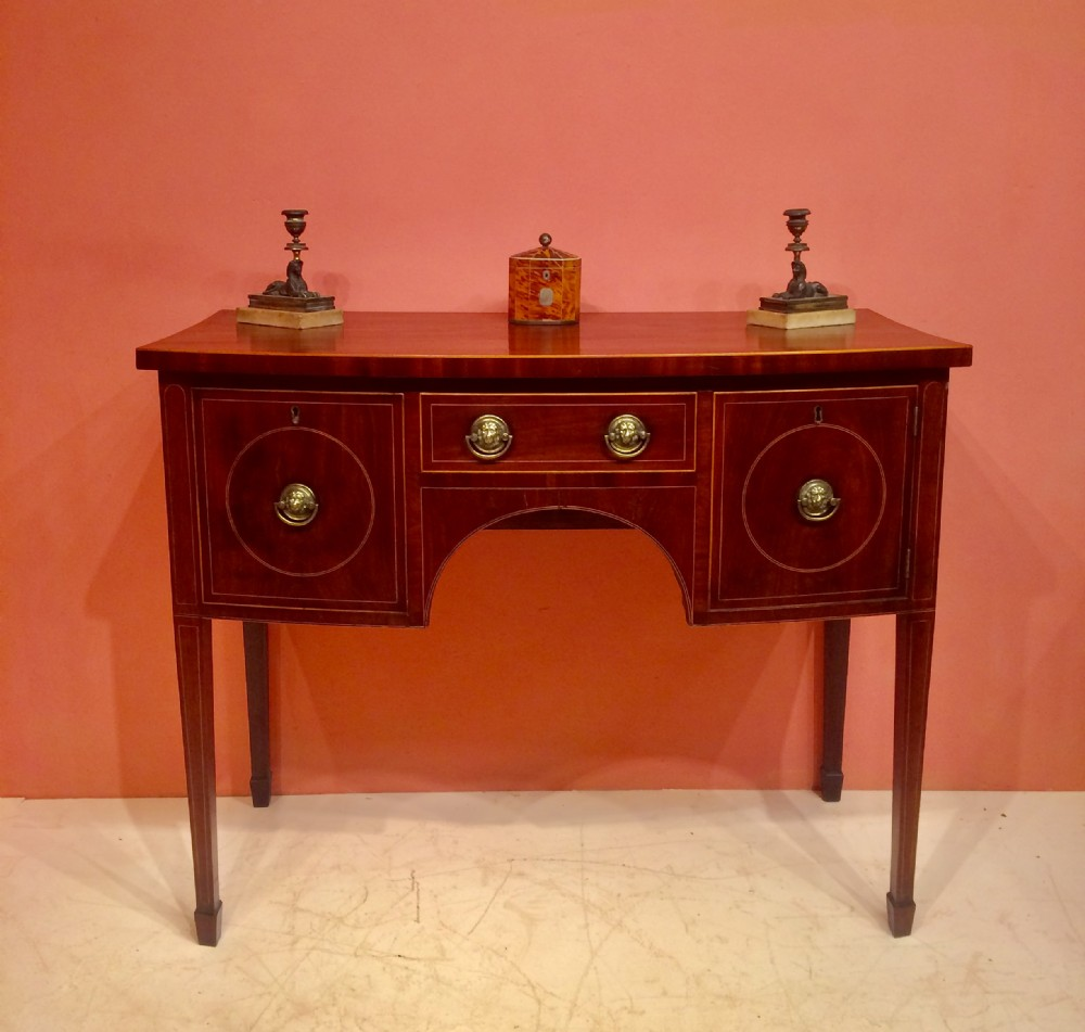 small georgian mahogany bow fronted sideboard