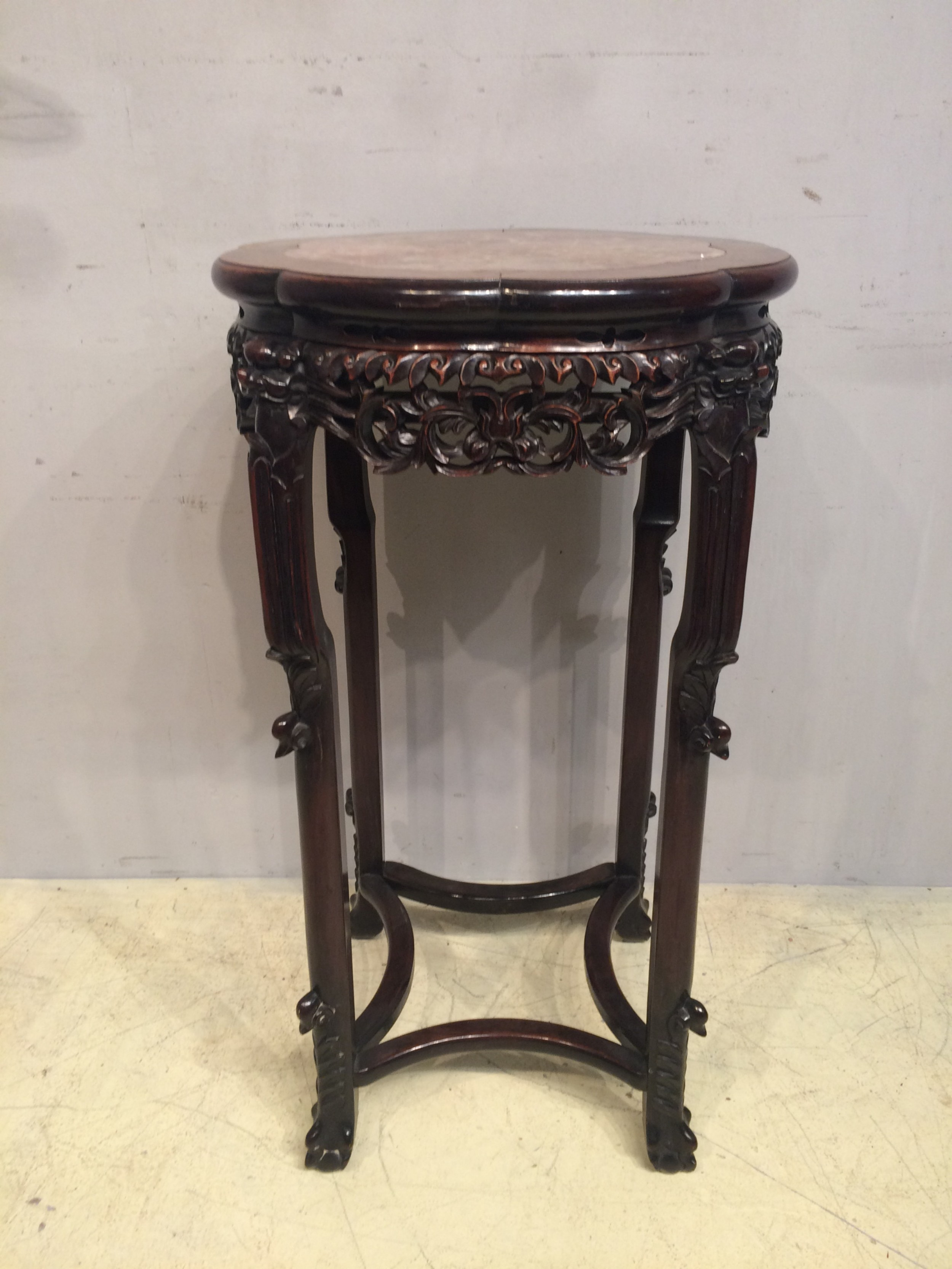 antique chinese carved hardwood stand