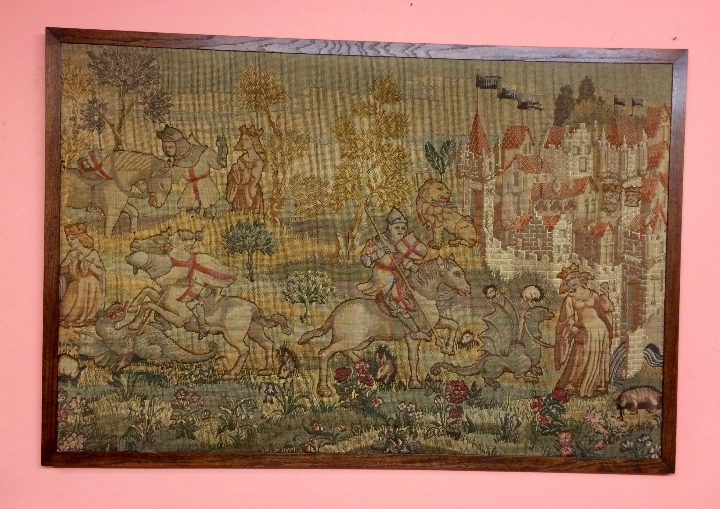 19th century tapestry panel