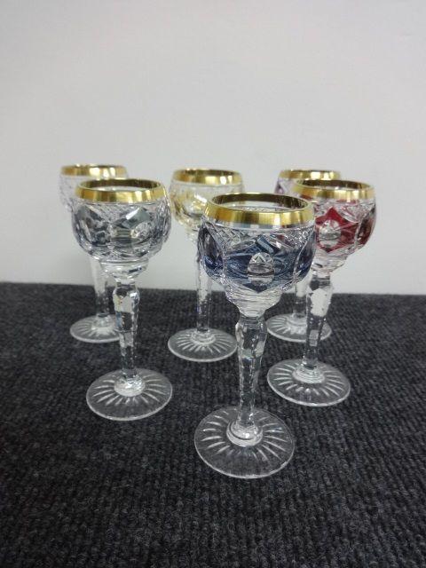stunning set six liqueur glasses