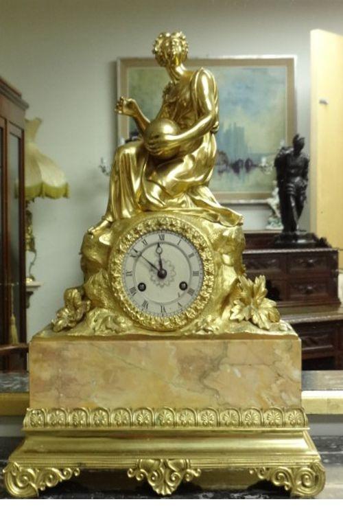 stunning gilt bronze mantle clock by 'gillion'
