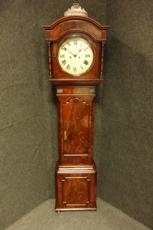 excellent quality george iii mahogany grandfather clock