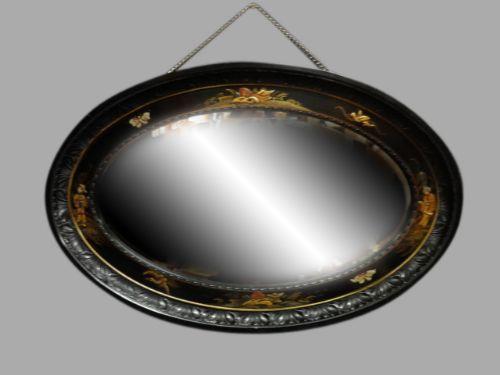 good black chinoiserie edwardian mirror