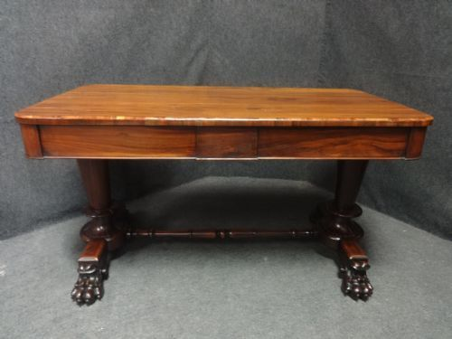 william 4th rosewood library desk