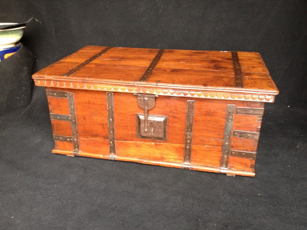 Wonderful Tea Chest Coffee Table Part - 7: Teak Tea Chest Coffer Coffee Table