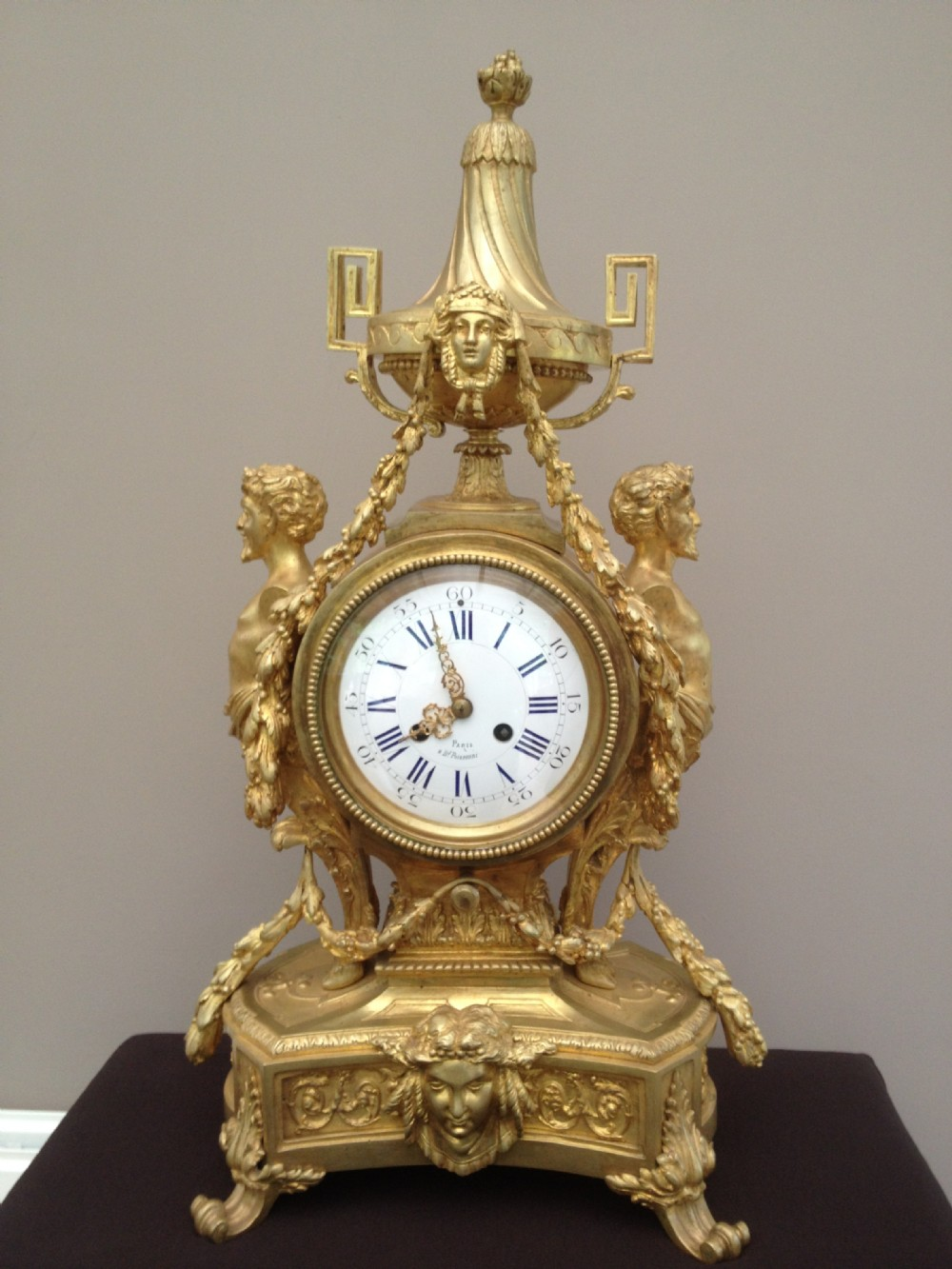 stunning gilt bronze french clock c1880