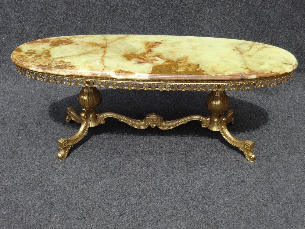 Brass And Onyx Coffee Table 354213