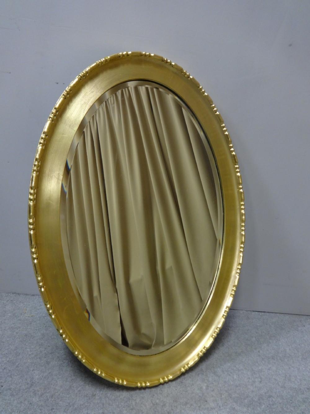 very good edwardian oval gilt mirror