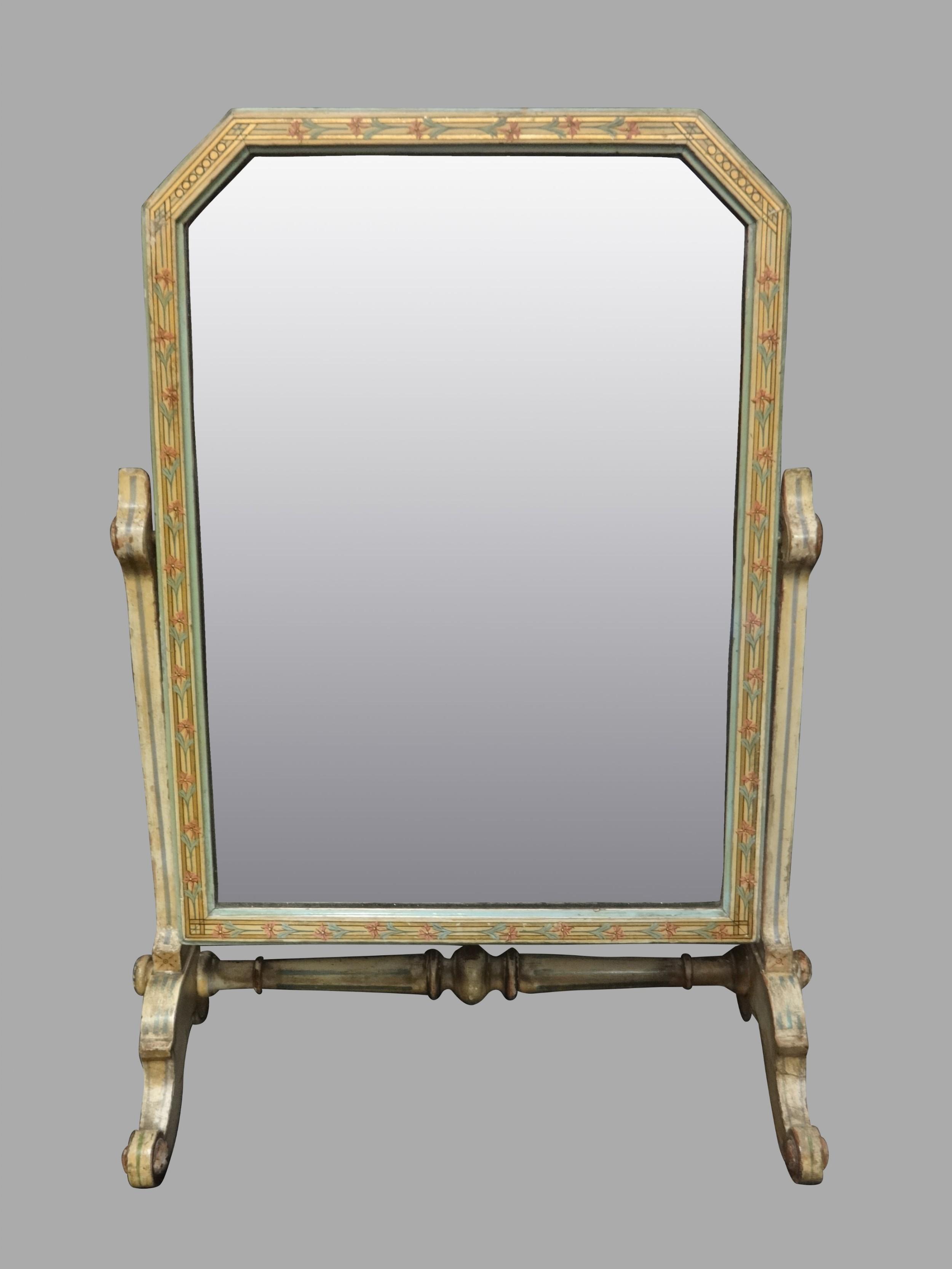victorian original painted toilet dressing swing mirror