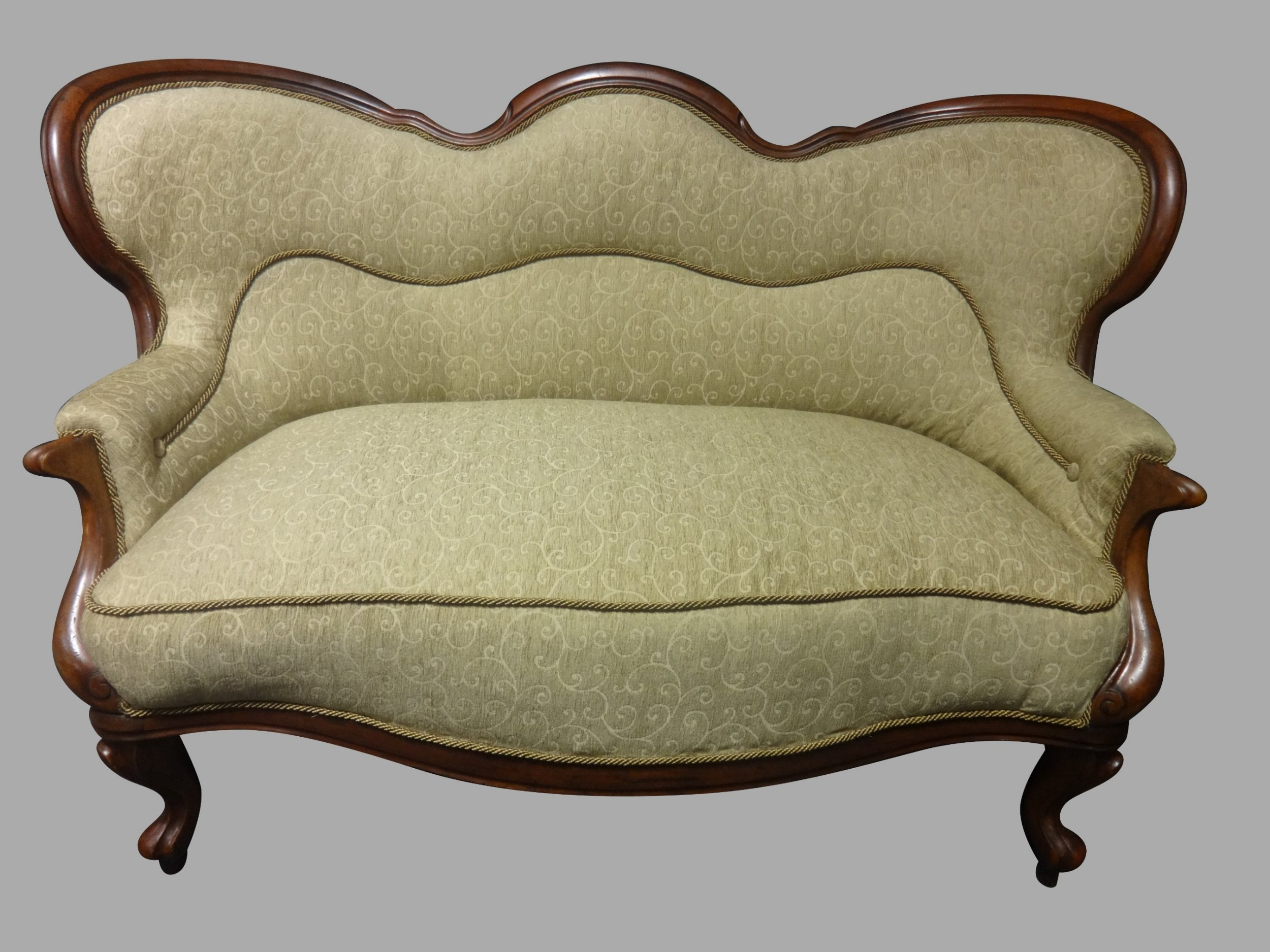 superb newly upholstered victorian mahogany sofa