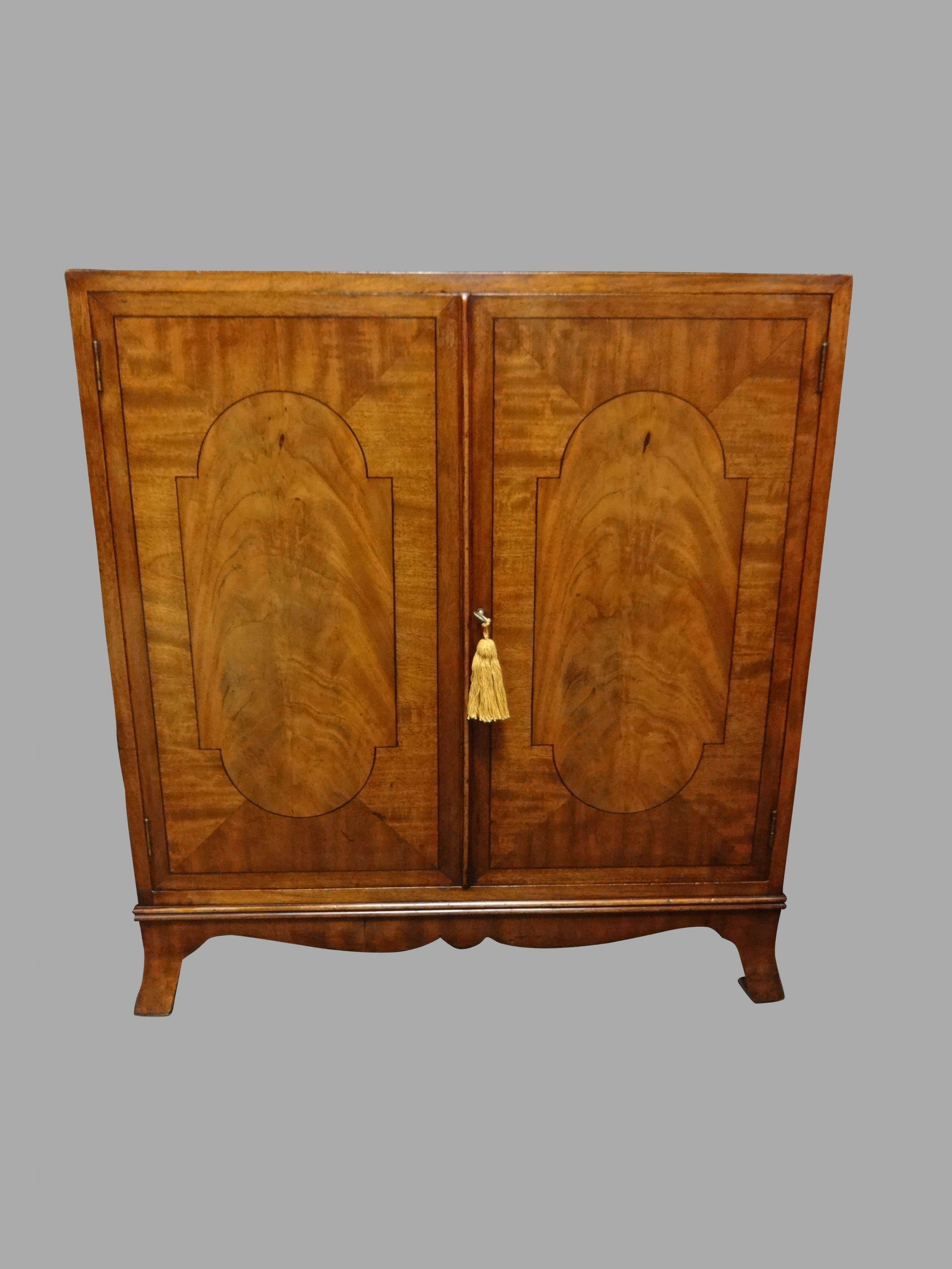 superb mahogany inlaid side cabinet by 'gill reigate london'