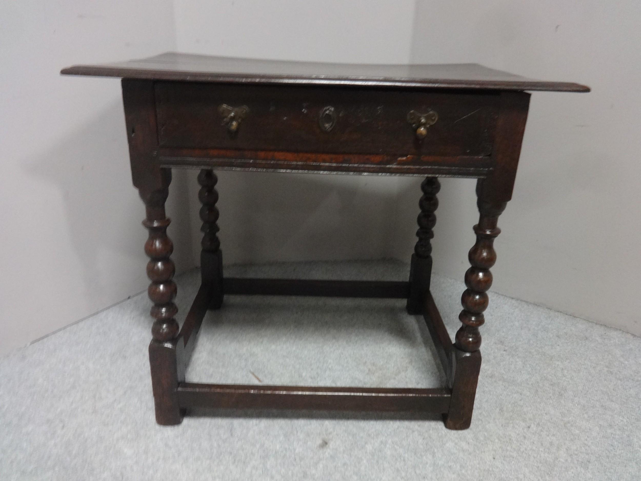 c18th period oak side table