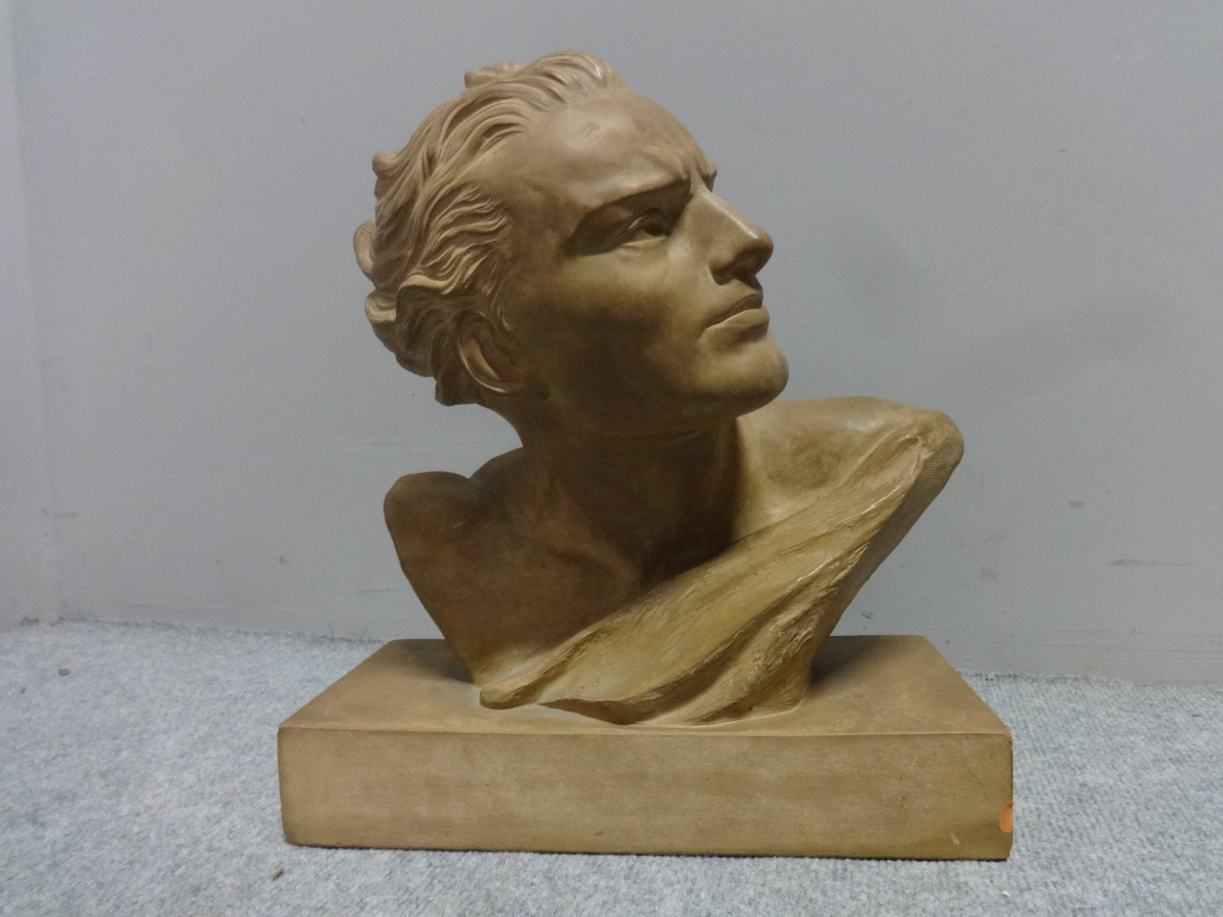 signed french terracotta bust