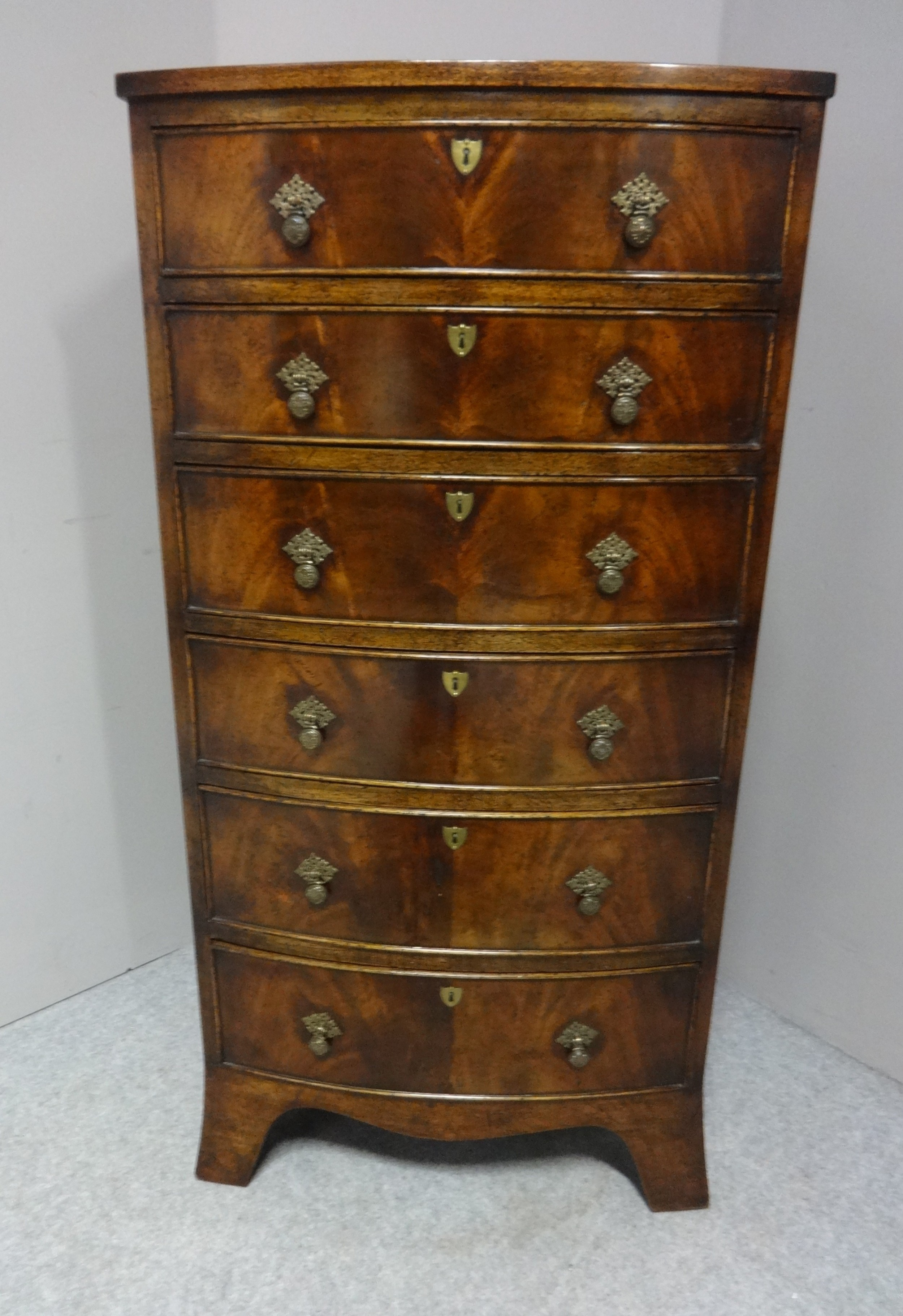 good quality mahogany tall chest of drawers