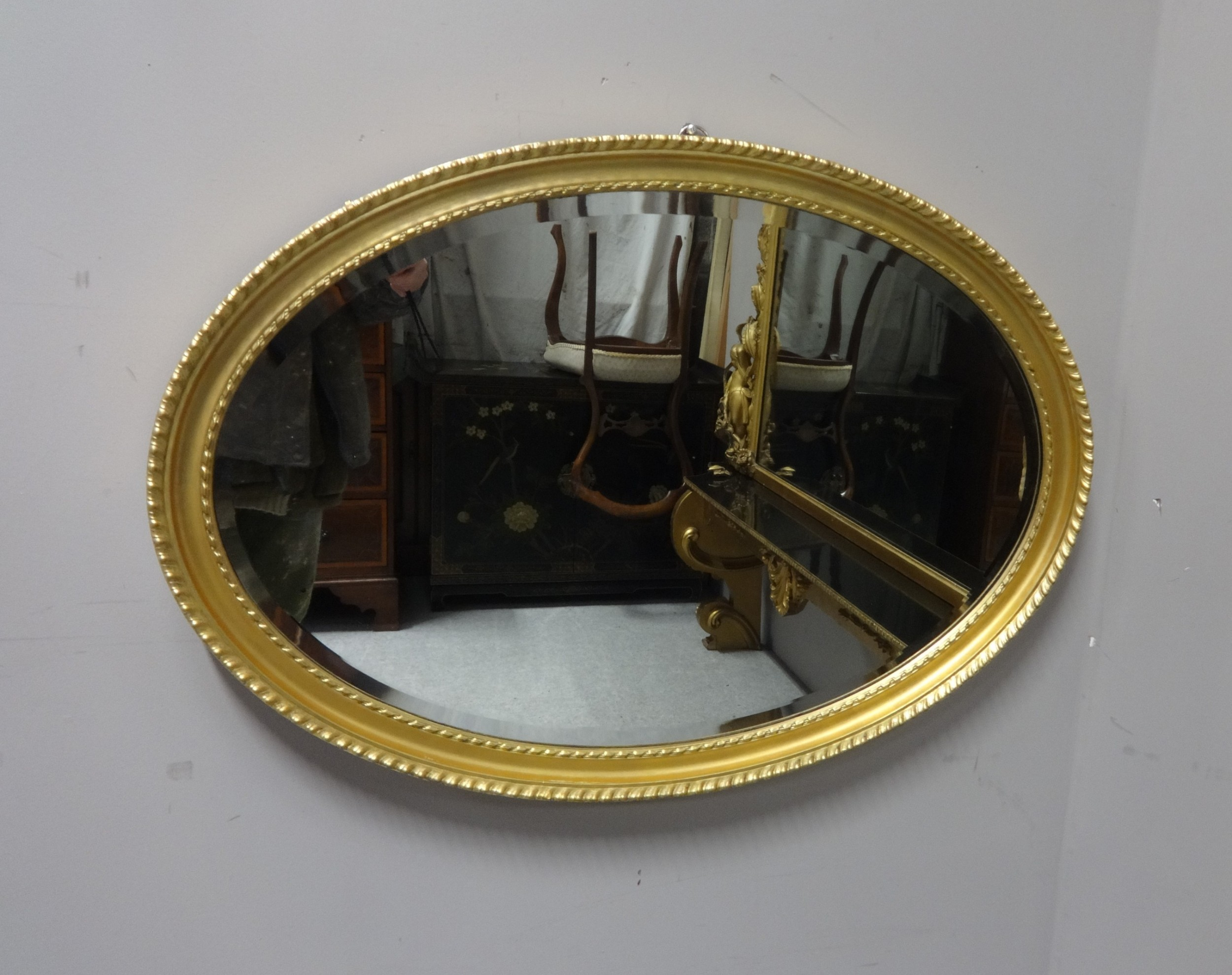 very good english victorian gilt wall mirror