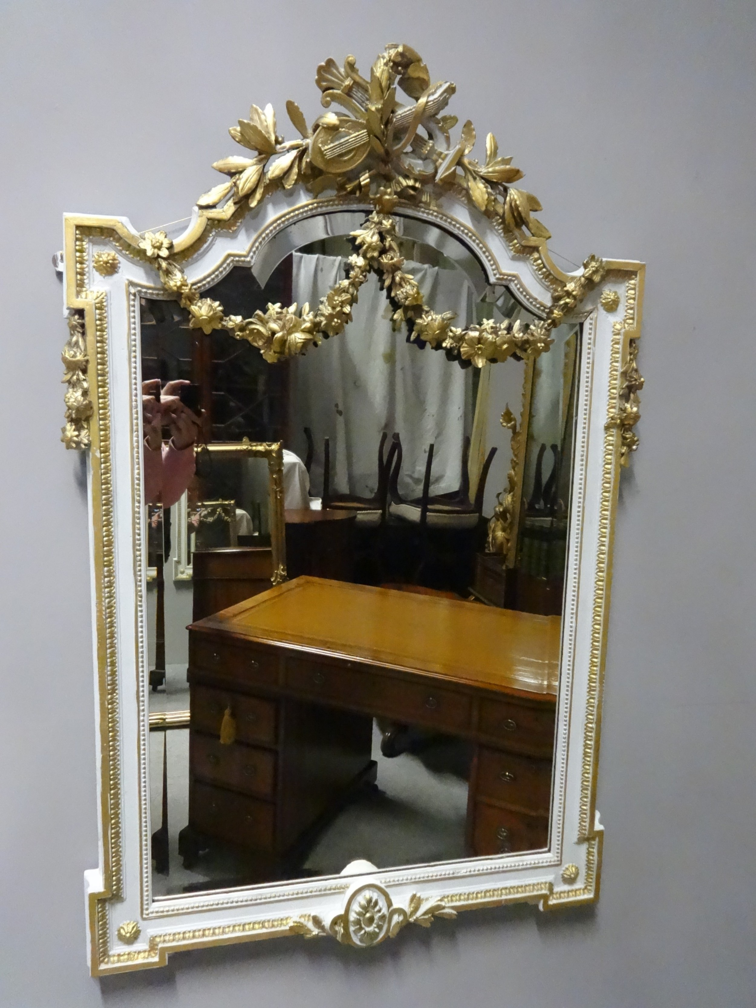 very good french parcel gilt mirror