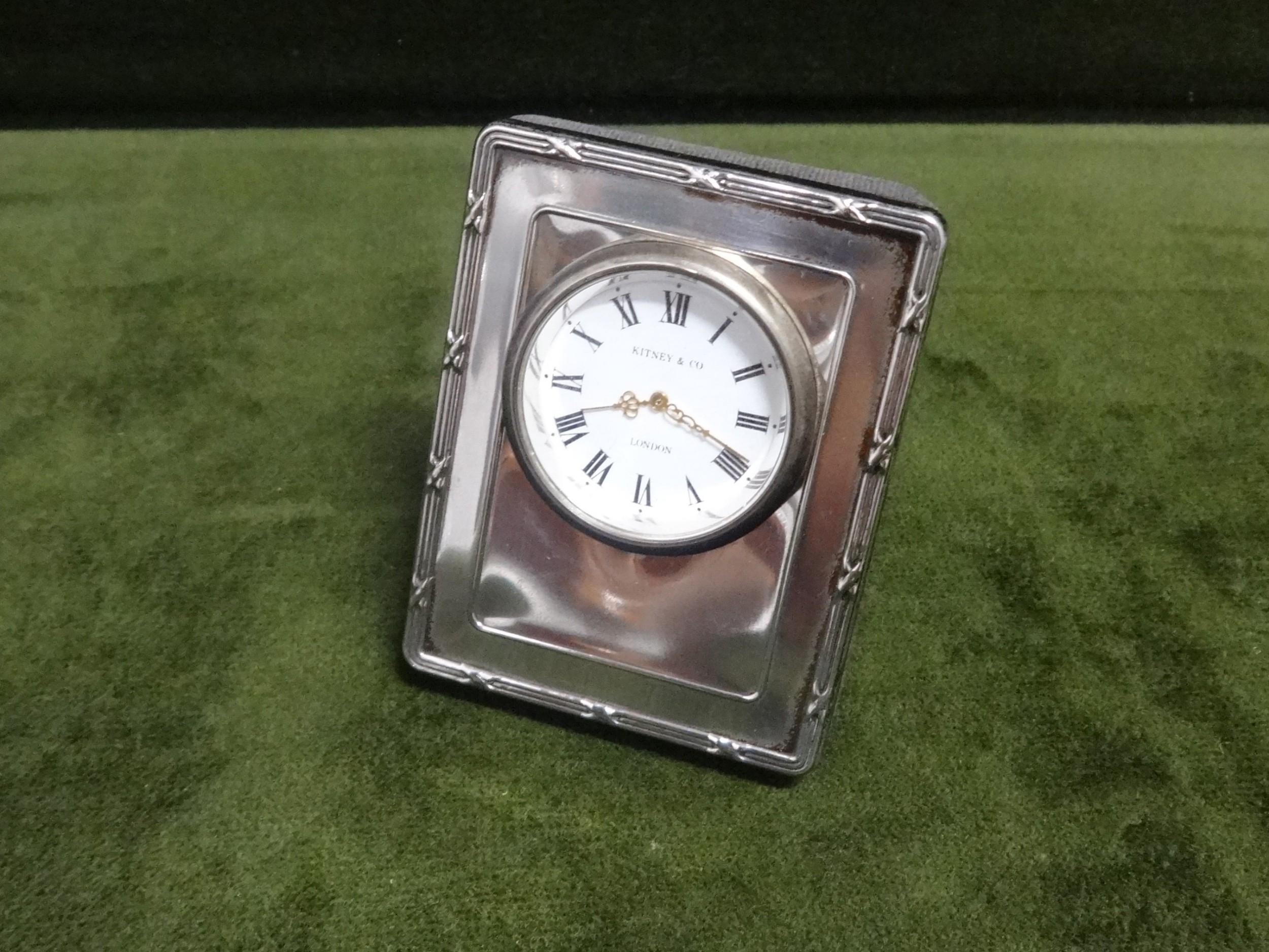 pretty silver travelling clock