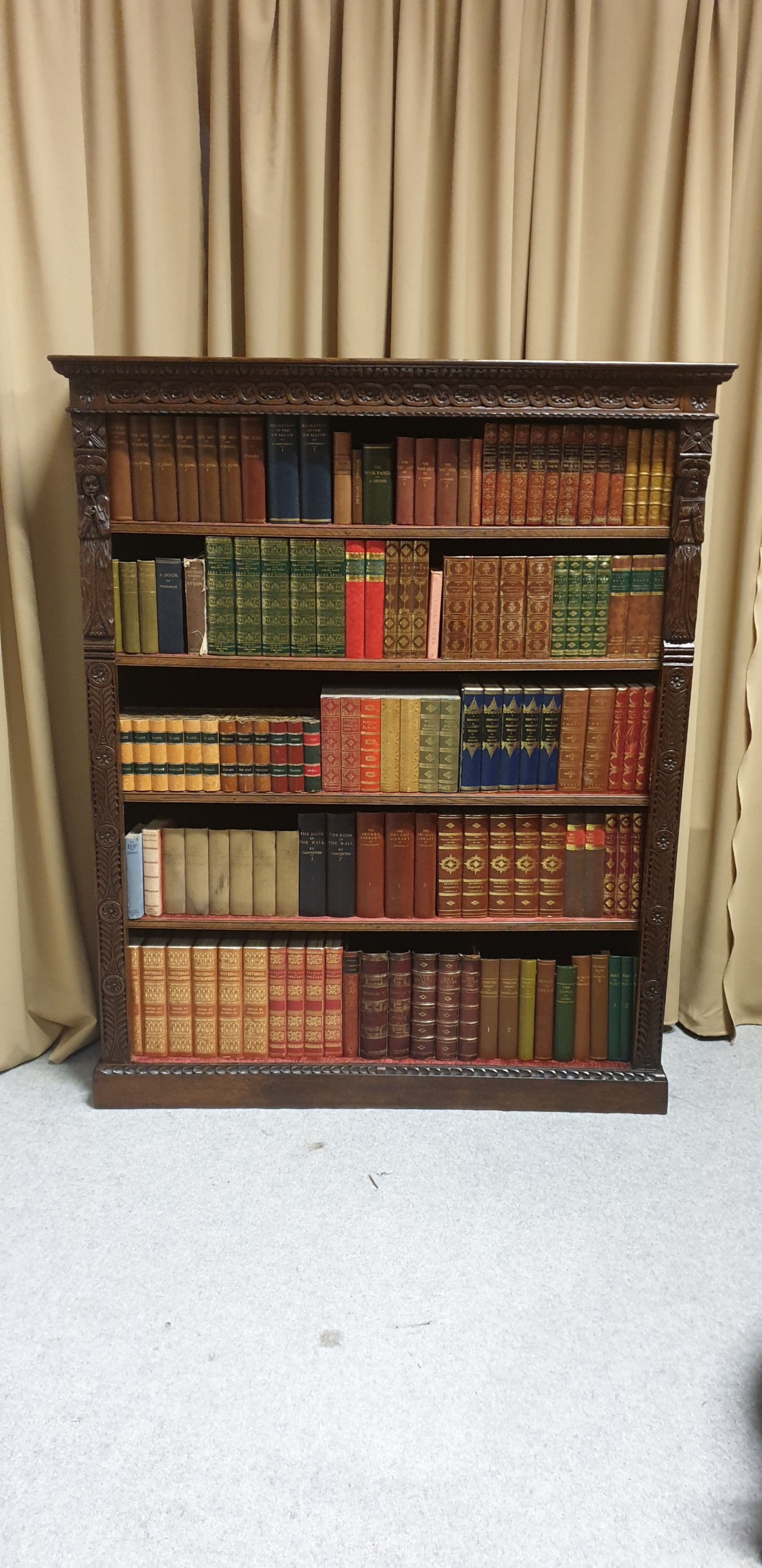 wonderful victorian adjustable library bookcase