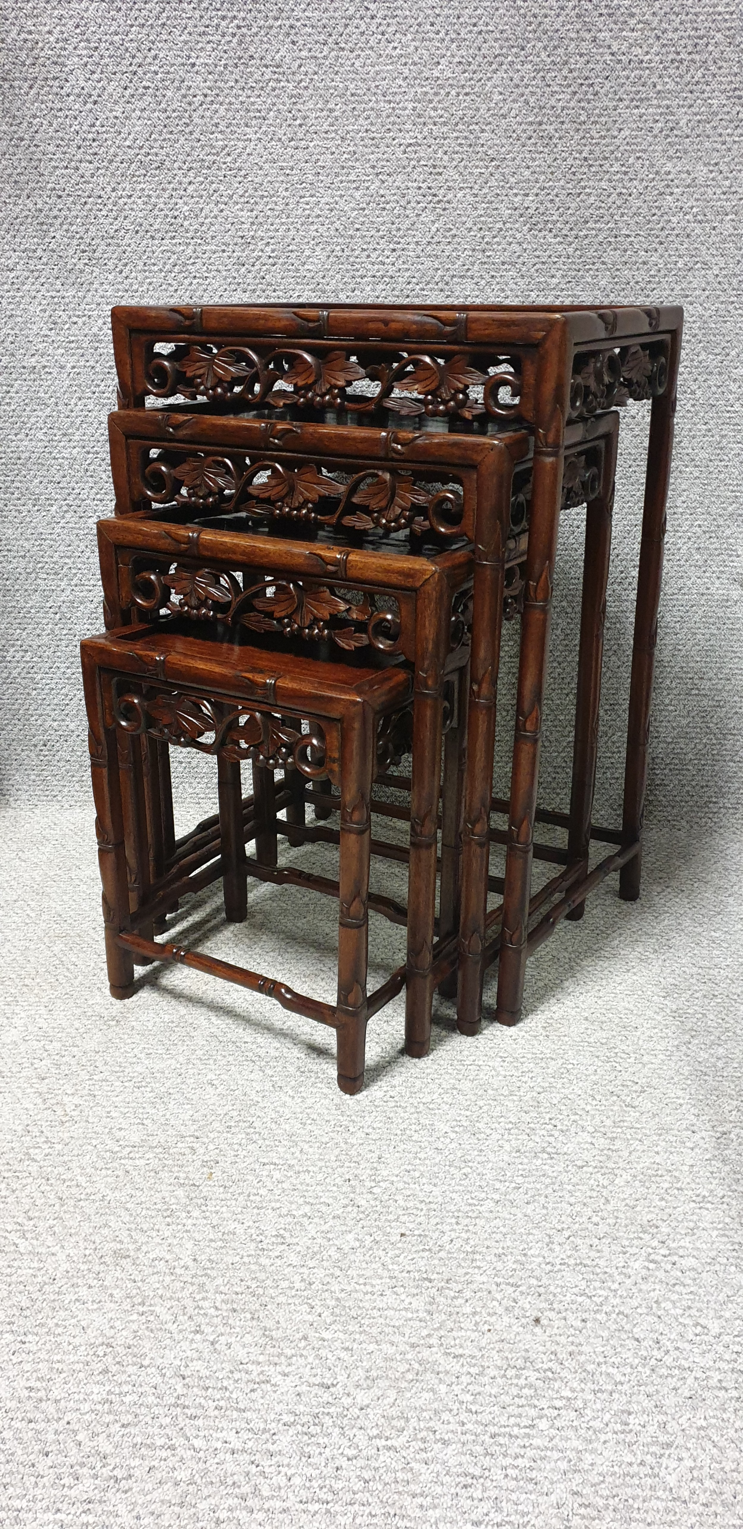 oriental rosewood quartetto nest of tables