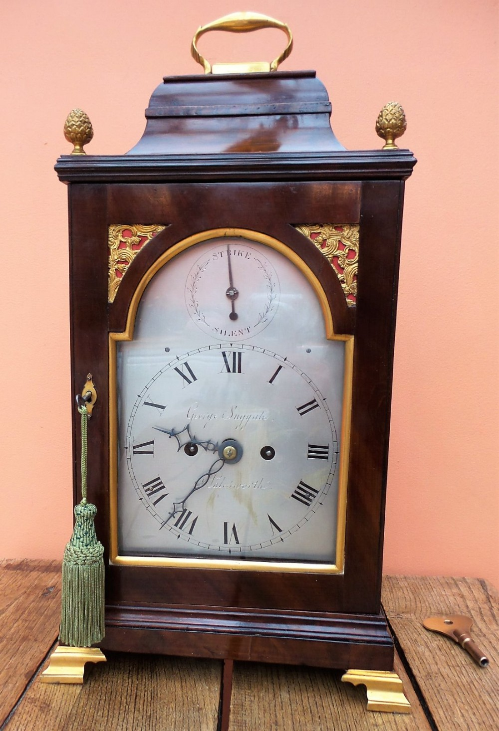 18th century verge bracket clock