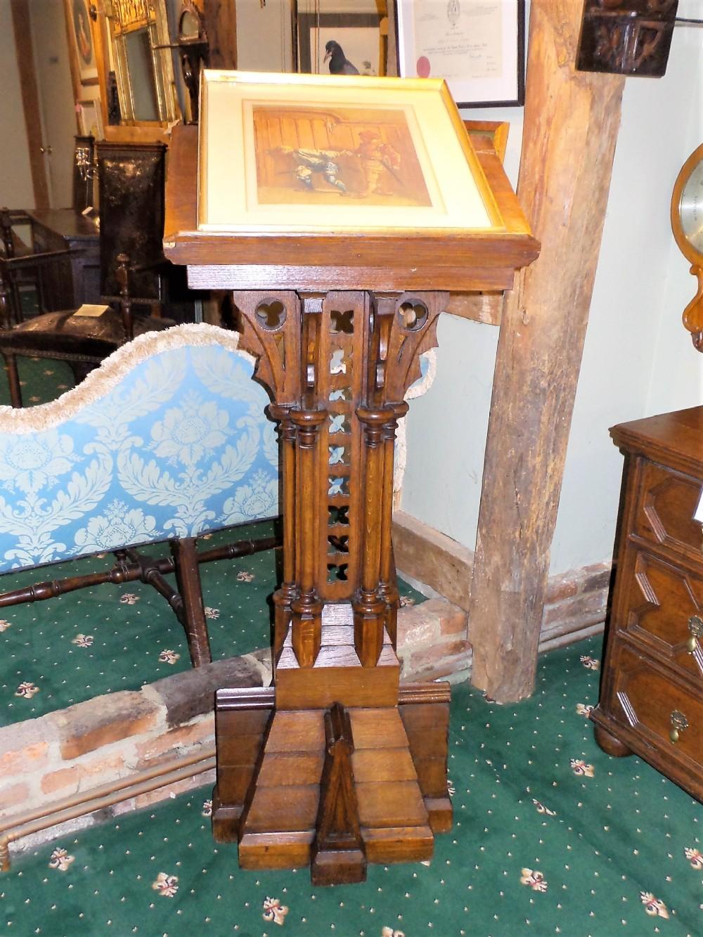 19th cent oak lectern