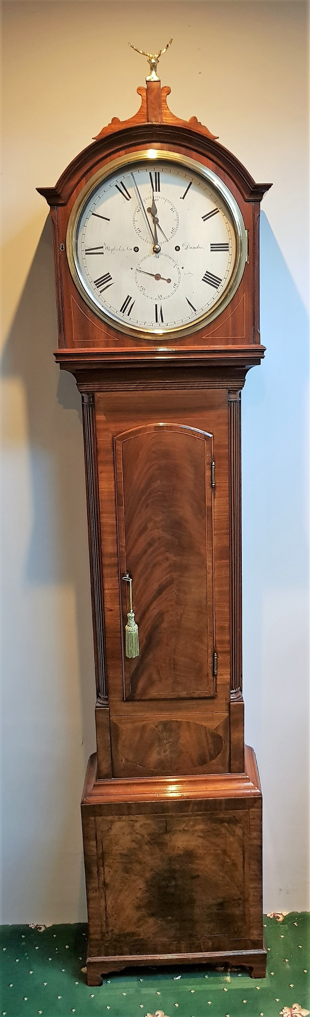 scottish 19th cent mahogany domestic regulator