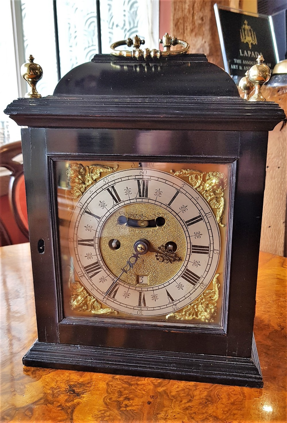 very fine and rare william mary ebony striking bracket clock c1690 by isaac lounds