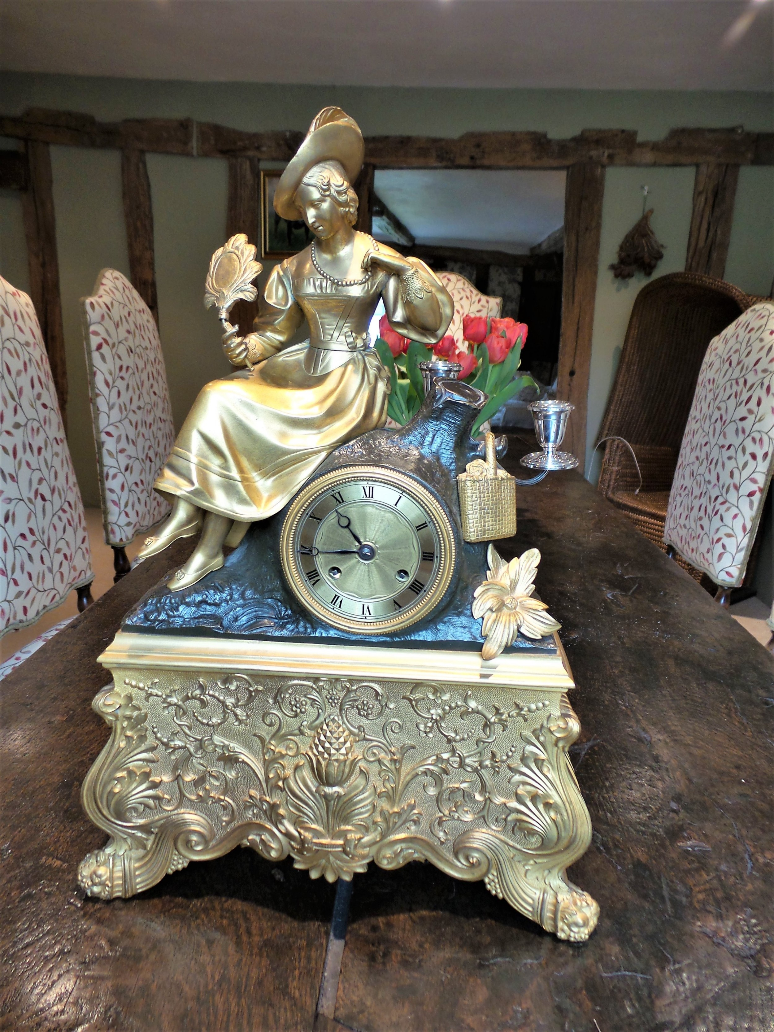 french mantle clock c1850