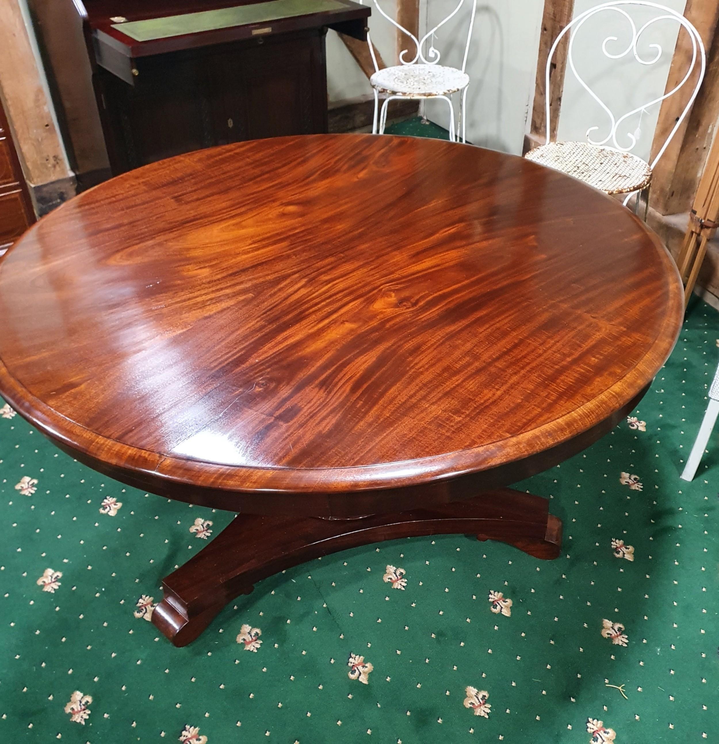 19th century mahogany breakfast table