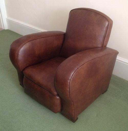Leather Sofa Suites Uk: Suite Of Art Deco Leather Furniture