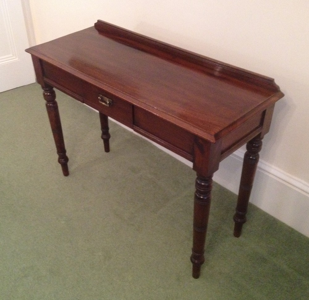 Victorian Mahogany Side Or Hall Table Of Narrow Depth