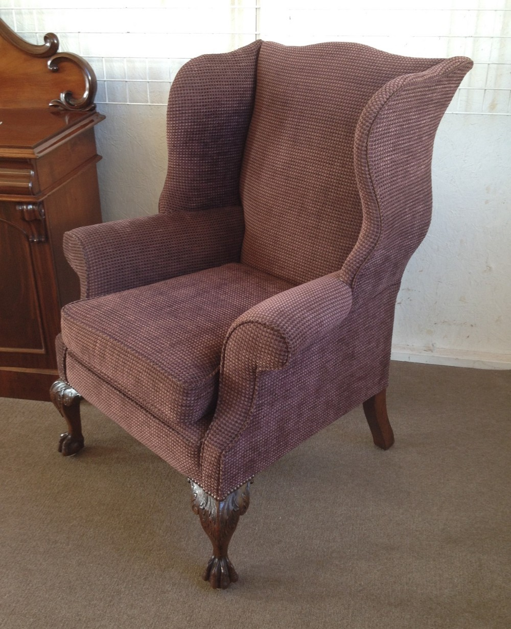 Large Georgian Revival Wing Back Armchair | 264957 ...