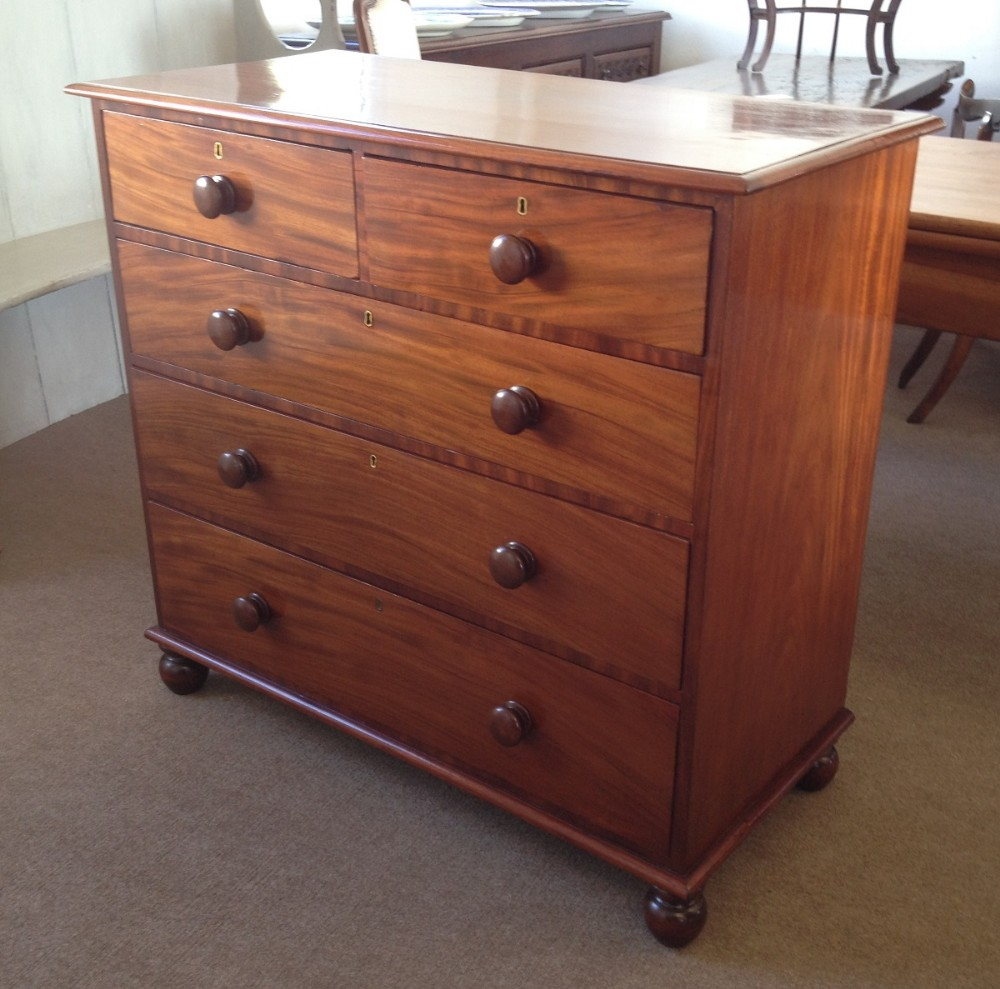 low priced 02115 28f82 Antique Victorian Mahogany Chest Of Drawers | 281203 ...