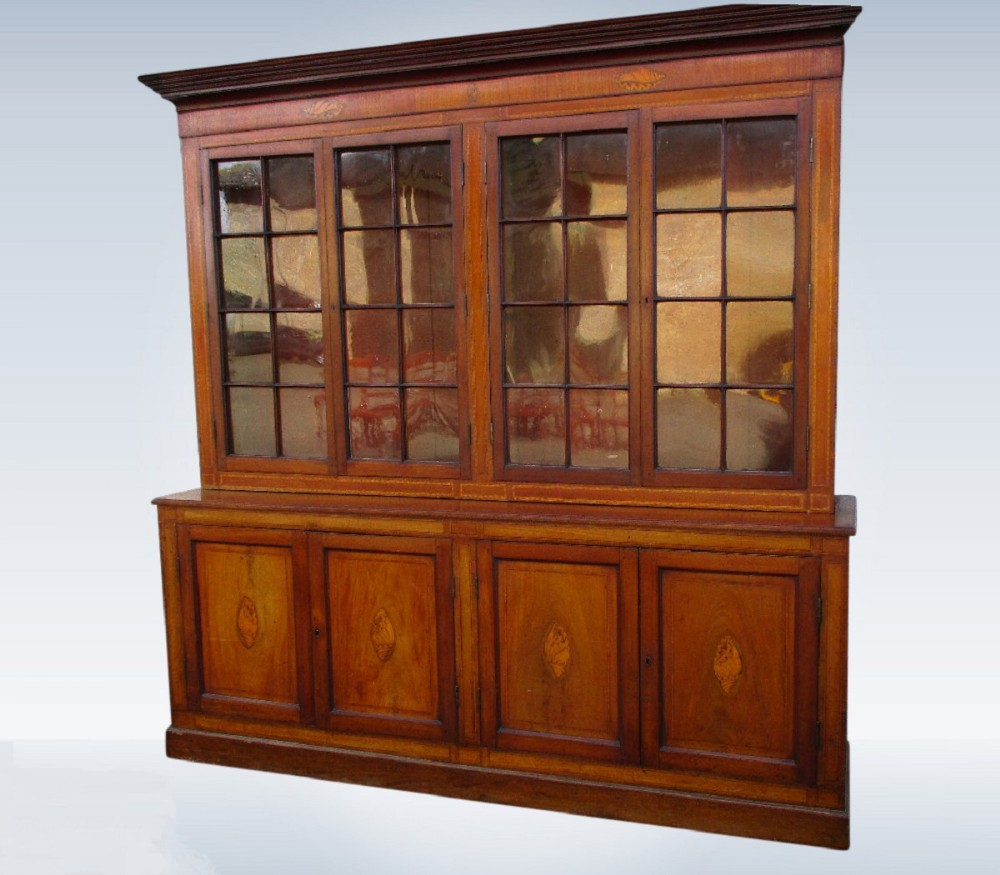 large victorian mahogany library bookcase penny dreadful