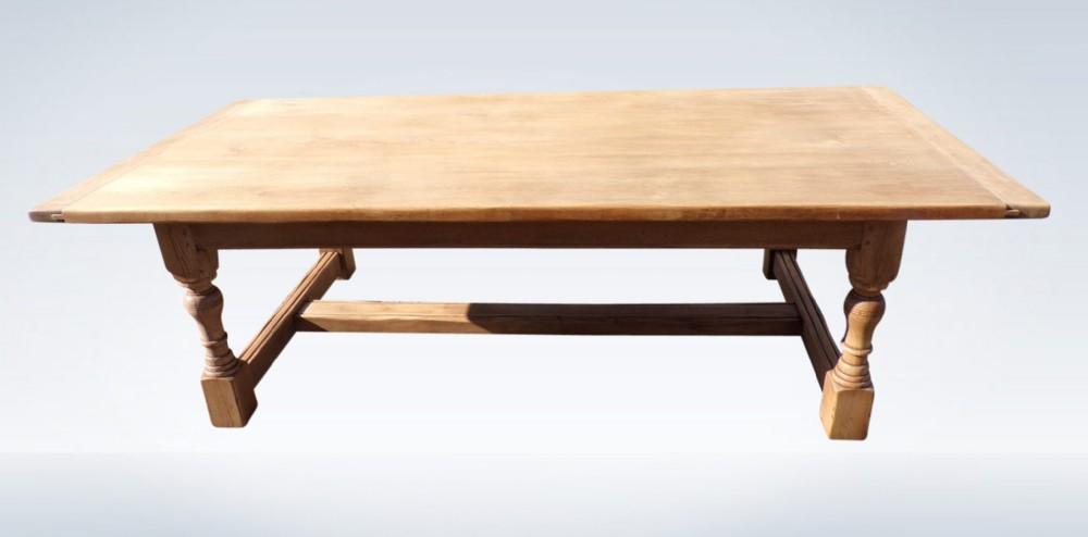jacobean revival oak refectory table 8 feet long