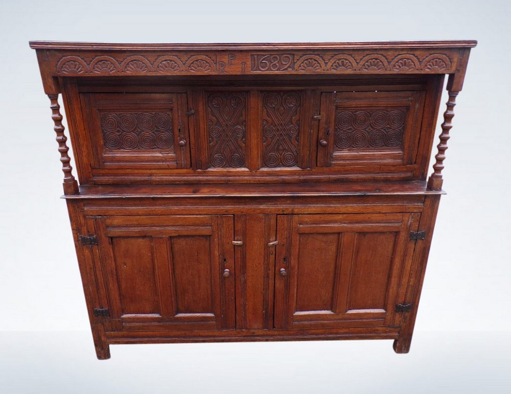 william mary oak court cupboard