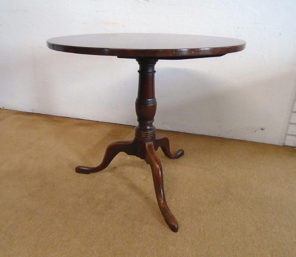 georgian antique mahogany round tilttop tripod table