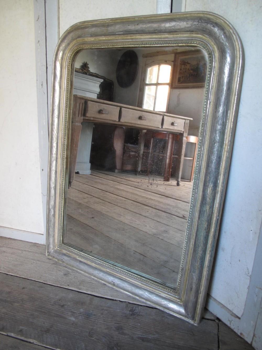 french silver gilt mirror 19th century