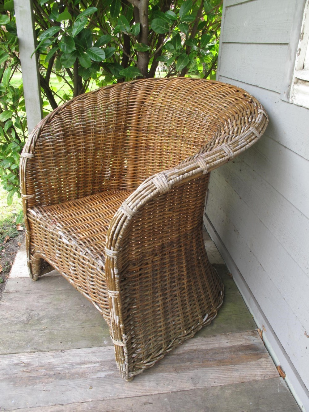 wicker chair for conservatory or garden terrace