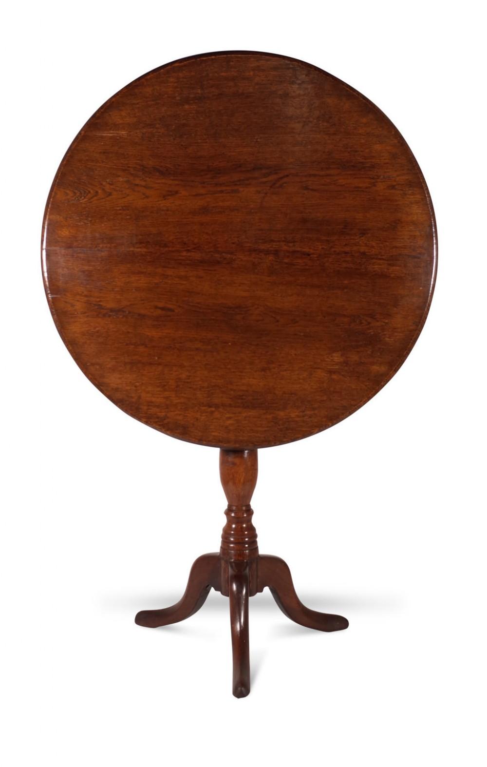 oak tilt top table