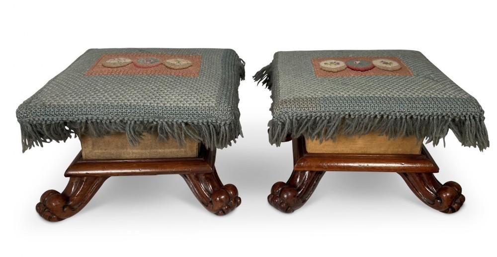 needlepoint stools