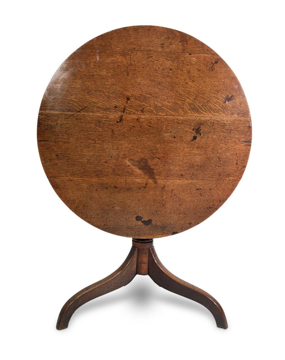 oak tripod table