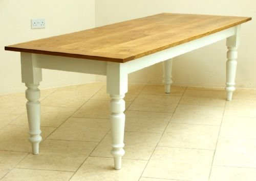 Beautiful 10 Seat Victorian Solid Oak And Pitch Pine Painted Farmhouse