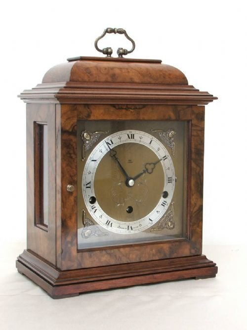 beautiful elliott burr walnut westminster and whittington clock - photo angle #3