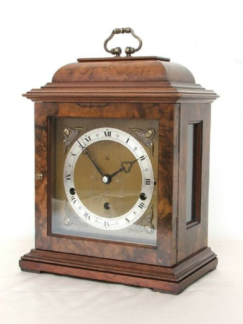 beautiful elliott burr walnut westminster and whittington clock - photo angle #2