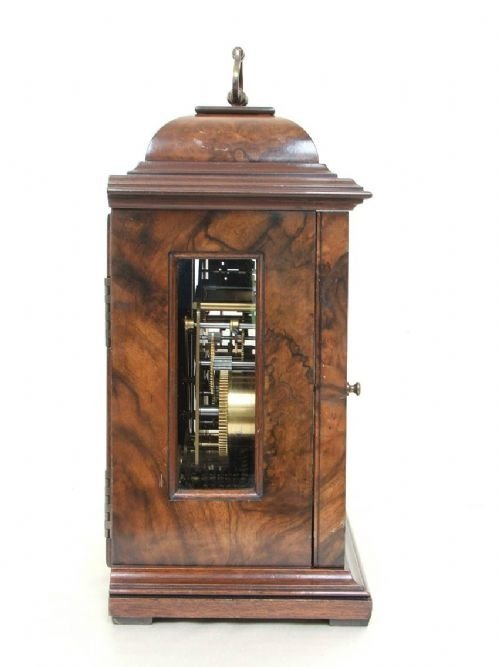 beautiful elliott burr walnut westminster and whittington clock - photo angle #4
