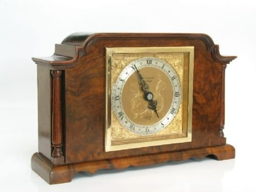 beautiful small elliott burr walnut mantel clock c1920 - photo angle #2