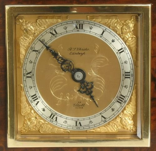 beautiful small elliott burr walnut mantel clock c1920 - photo angle #4