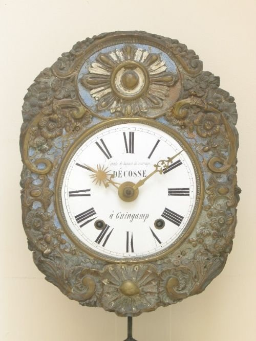 french comtoise morbier vinyard wall clock c1860 - photo angle #4