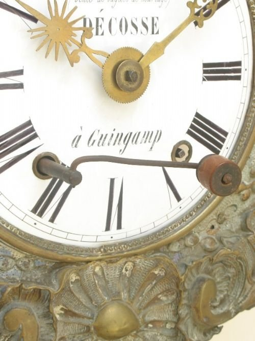 french comtoise morbier vinyard wall clock c1860 - photo angle #5